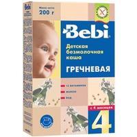 Каша Беби (Bebi) гречка с витаминами железом и йодом 4 мес. 200г упак.