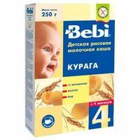 Каша Беби (Bebi) молочная рисовая и курага с витаминами, железом и йодом 4 мес. 250г упак.