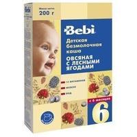 Каша Беби (Bebi) овсяная с лесными ягодами с витаминами, железом и йодом 6 мес. 200г упак.