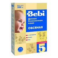 Каша Беби (Bebi) овсяная с витаминами железом и йодом 5 мес. 200г упак.