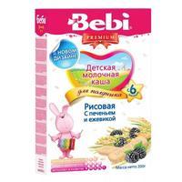 Каша Беби (Bebi) Премиум для полдника молочная рисовая с печеньем и ежевикой 6 мес. 200г упак.