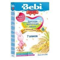 Каша Беби (Bebi) Премиум молочная 7 злаков 6 мес. 200г упак.