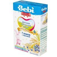 Каша Беби (Bebi) Премиум молочная 7 злаков с черникой 6 мес. 200г упак.