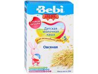 Каша Беби (Bebi) Премиум молочная овсяная 5 мес. 250г упак.