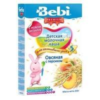 Каша Беби (Bebi) Премиум молочная овсяная с персиком 5 мес. 250г упак.