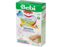 Каша Беби (Bebi) Премиум низкоаллергенная гречневая с пребиотиками 5 мес. 200г упак.