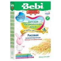 Каша Беби (Bebi) Премиум низкоаллергенная рисовая с пребиотиками 5 мес. 200г упак.