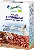 Каша Fleur Alpine на козьем молоке Органик гречневая 4 мес. 200г упак.