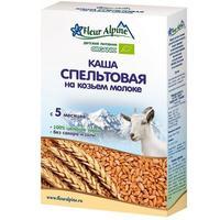 Каша Fleur Alpine на козьем молоке Органик пшеничная спельтовая 5 мес. 200г упак.