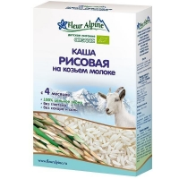 Каша Fleur Alpine на козьем молоке Органик рисовая 4 мес. 200г упак.
