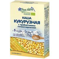 Каша Fleur Alpine Органик кукурузная с пребиотиками гипоаллергенная 5 мес. 175г упак.