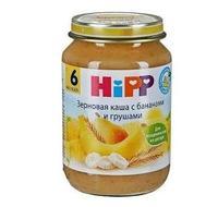 Каша Hipp зерновая с бананами и грушами с 6 мес. 190г 1 шт.