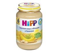 Каша Hipp зерновая с яблоками и бананами с 6 мес. 190г 1 шт.