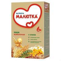 Каша Малютка 5 злаков с витаминами и минералами 6 мес. 200г упак.