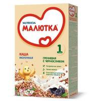 Каша Малютка молочная гречневая с черносливом с витаминами и минералами 4 мес. 220г упак.
