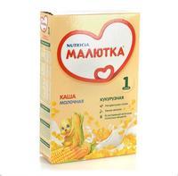 Каша Малютка молочная кукурузная с витаминами и минералами 5 мес. 220г упак.