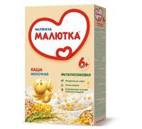 Каша Малютка молочная мультизлаковая с витаминами и минералами 6 мес. 220г упак.