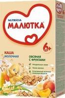 Каша Малютка молочная овсяная с фруктами с витаминами и минералами 6 мес. 220г упак.