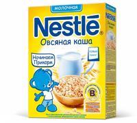 Каша Nestle молочная овсяная с бифидобактериями с витаминами и минералами 4 мес. 250г упак.