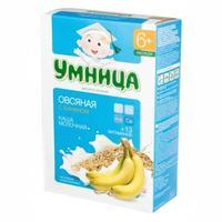 Каша Умница молочная овсяная с бананом 6 мес. 200г упак.