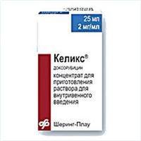 Келикс конц. для р-ра для в/в введ. 2 мг/мл, 25 мл 1 шт.