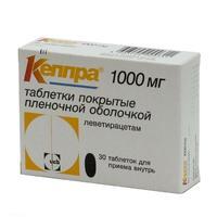 Кеппра таблетки 1 г, 30 шт.