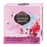Керасис Shower Mate Мыло косметическое Роза и вишневый цвет 4х100г