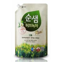 Керасис Soonsaem Средство для мытья посуды Зеленый чай зап.блок 1200мл (зап.блок)