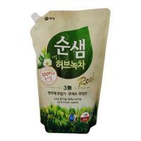 Керасис Soonsaem Средство для мытья посуды Зеленый чай зап.блок 1300мл (зап.блок)