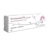 Клиндацин Б пролонг крем вагинальный 2%+2% туба 6 г + аппликатор
