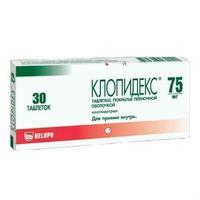 Клопидекс таблетки 75 мг, 30 шт.