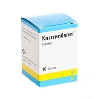 Клостилбегит таблетки 50 мг, 10 шт.