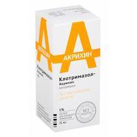 Клотримазол-Акрихин р-р для наружного применения 1% флакон 15 мл