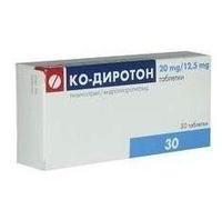 Ко-Диротон таблетки 20 мг+12,5 мг, 30 шт.