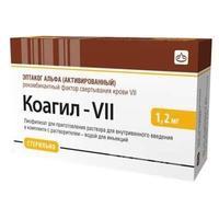 Коагил-VII лиофилизат для р-ра для внутрив. введ. 1,2 мг флакон 1 шт. упак.