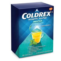 Колдрекс ХотРем ментол и медовый лимон пакетики 5 г 10 шт.
