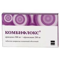 Комбифлокс таблетки 500+200 мг, 20 шт.