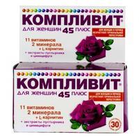 Компливит для женщин 45+ таблетки, 30 шт.