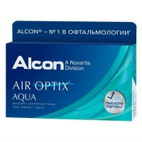 Контактные линзы Air Optix Aqua на месяц -6.50 3шт.