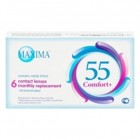 Контактные линзы Maxima 55 Comfort + на месяц 6 шт / -1,25/8.6/14.2 уп.