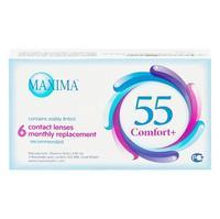 Контактные линзы Maxima 55 Comfort + на месяц 6 шт / -7,0/8.6/14.2 уп.