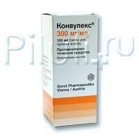 Конвулекс капли для приема внутрь 300 мг/мл , 100 мл