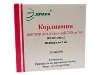 Кордиамин ампулы 25% 1 мл 10 шт. упак