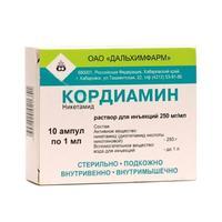Кордиамин ампулы 25% , 1 мл , 10 шт.