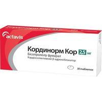 Кординорм Кор таблетки 2,5 мг 30 шт.