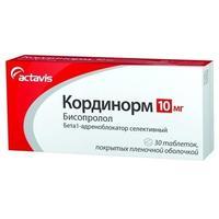 Кординорм таблетки покрыт.плен.об. 10 мг 30 шт.