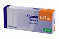 Кориол таблетки 6,25 мг, 30 шт.