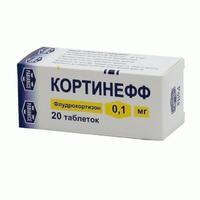 Кортинефф таблетки 0.1 мг, 20 шт.