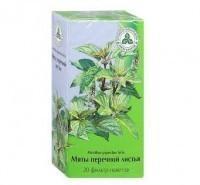 Мяты перечной листья фильтрпакетики 1,5 г, 20 шт.