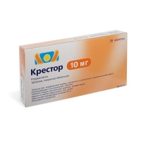 Крестор таблетки 10 мг, 28 шт.